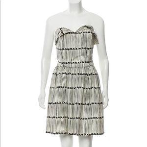 Marc Jacobs Striped Strapless Mini Dress Short